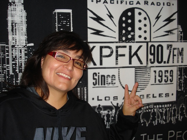 DJ Sol at KPFK. July 2013