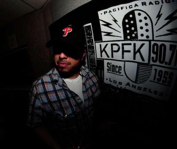 Jerry Flores (Funky People) at KPFK.  August 2013
